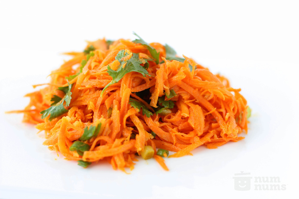 carrot & scallion salad