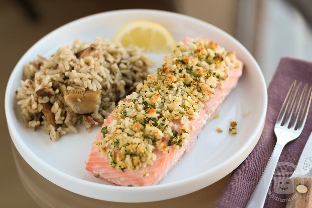 aloha fish with macadamia crust