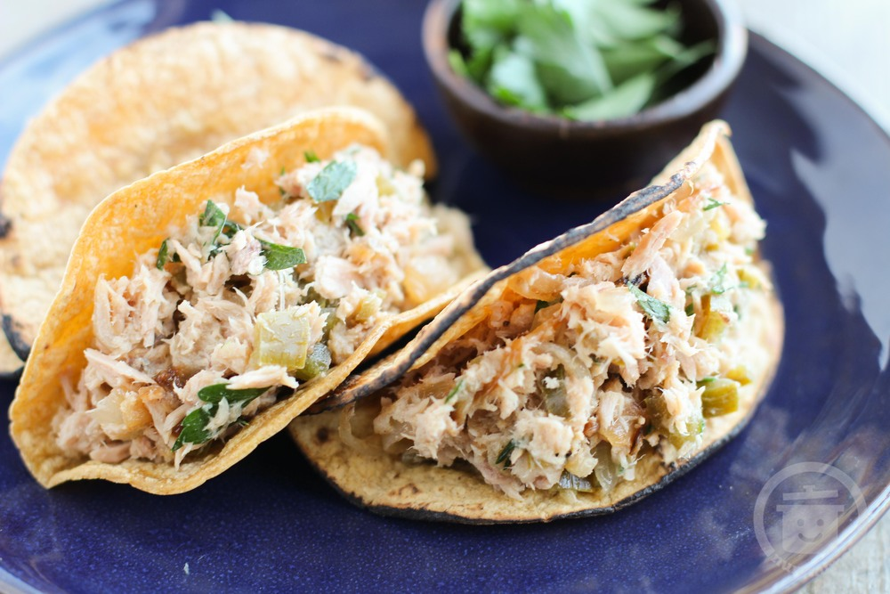 tuna tacos with pickled veggies