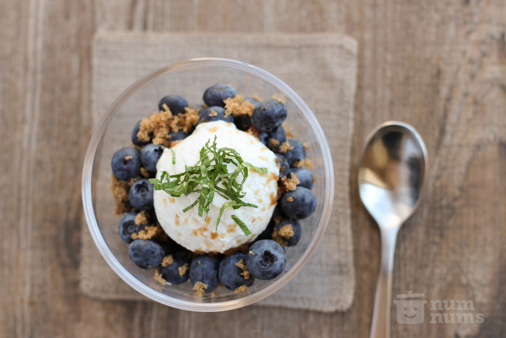 blueberries with yogurt & brown sugar