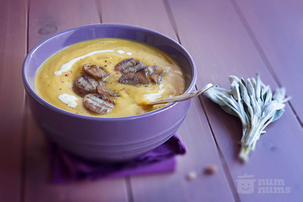 butternut squash soup with