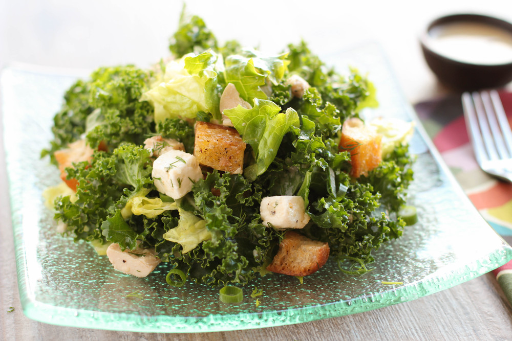 harvest & rowe\'s greek kale salad